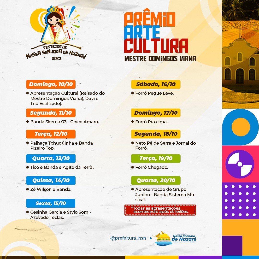 Cronograma do evento