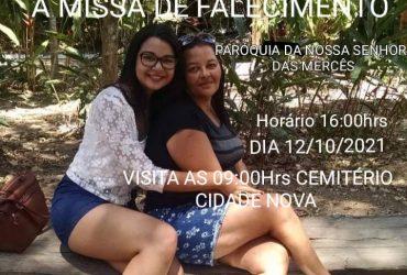 Missa de sétimo dia de Maria da Conceição e Amanda Kivia